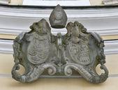 Znak v bazilice St. Michael v Mondsee, Rakousko