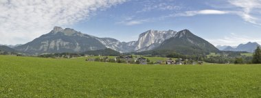 Idyllic Alps landscape panorama in Austria