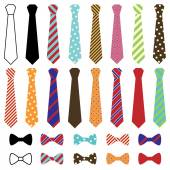 Photo Set of Vector Ties and Bow Ties