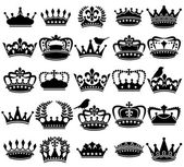 Fotografie Vector Collection of Vintage Style Crown Silhouettes