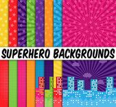 16 vektoros szuperhős-témájú háttérképek gyűjteménye