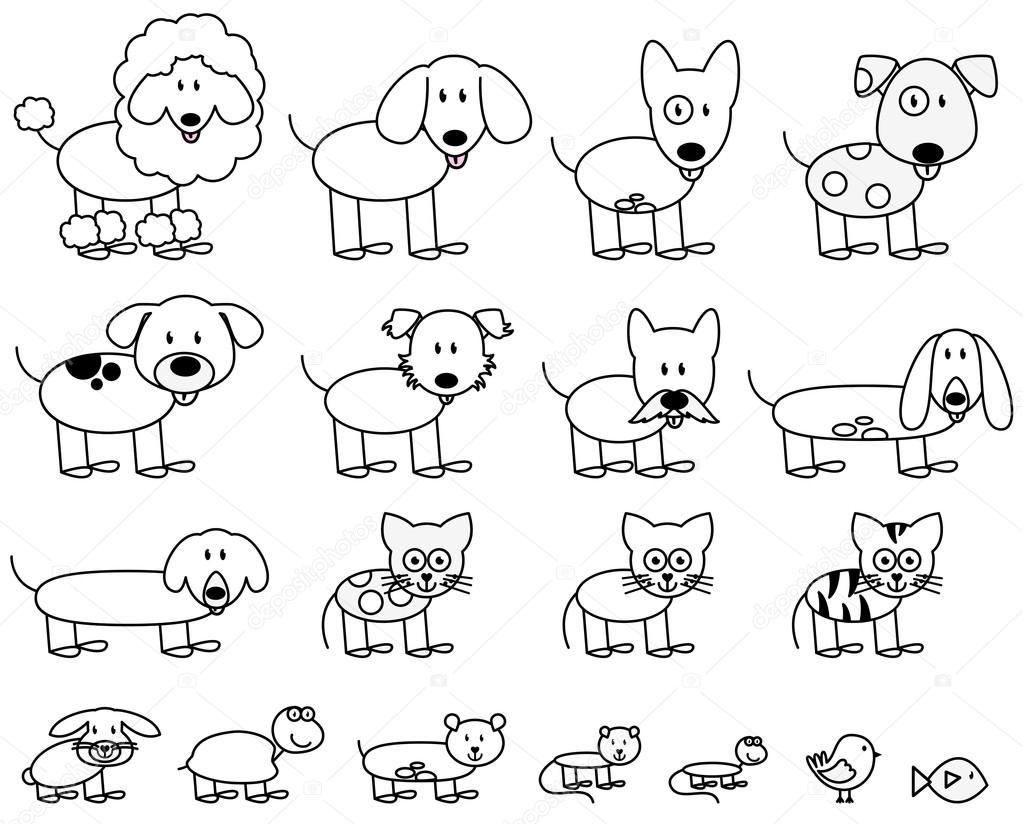 Cute Dieren Kleurplaten Hamster Vektor Sammlung Von H 252 Bsch Strichm 228 Nnchen Haustiere Und