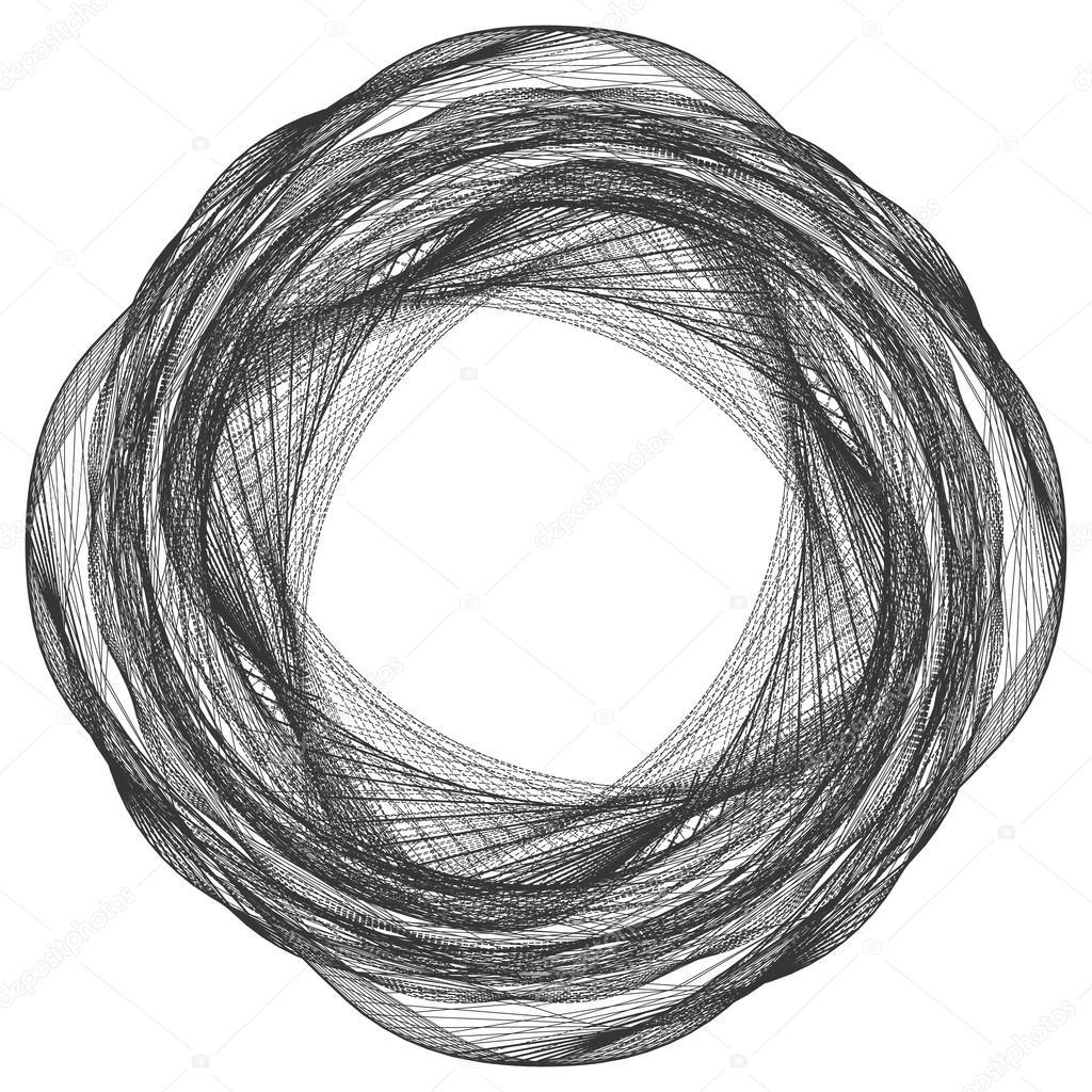 Marco de alambre orgánico trenzado geométrico forma Vector — Archivo ...
