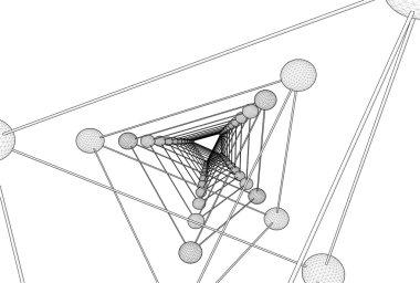Tetrahedron DNA Molecule Structure Vector