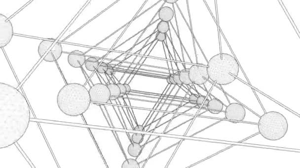 Octahedron DNA Molecule Structure String Rotating Animation