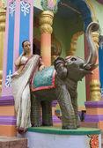 krásná mladá indická žena v tradičním oblečení s svatební