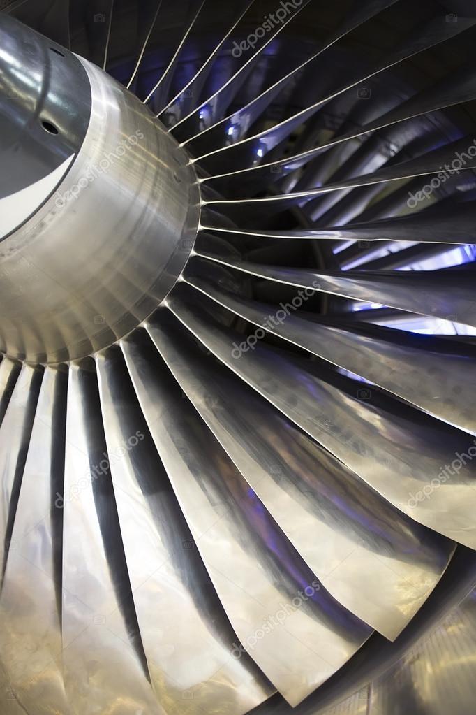 AIRPLAN Turbo-réacteur, gros plan — Photographie Kalcutta
