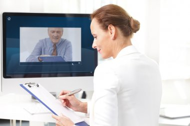 assistant having video chat