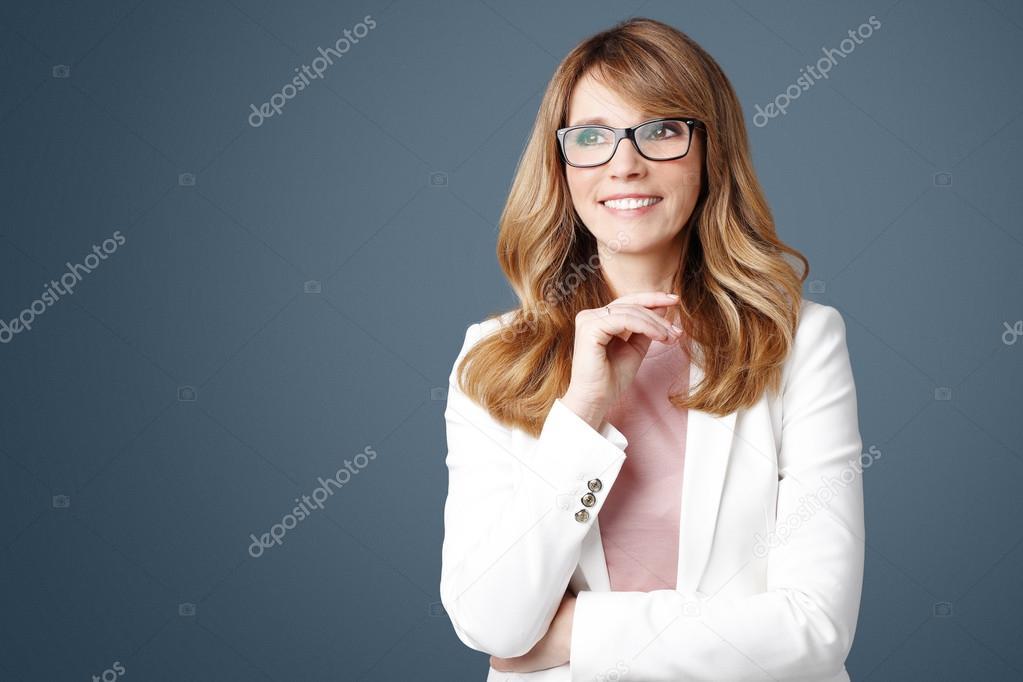 successful businesswoman standing