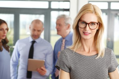 middle age businesswoman standing