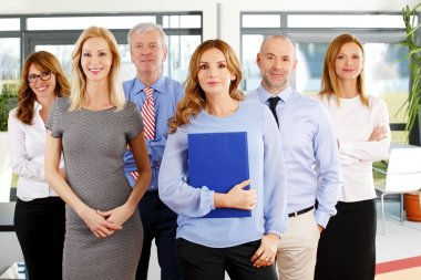 business people standing at office