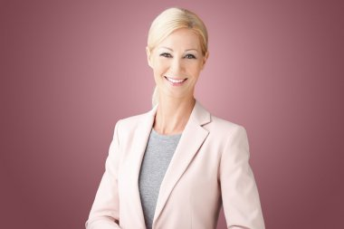 middle age businesswoman smiling