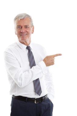 professional man showing