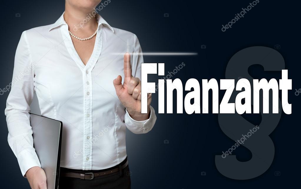 Ufficio In Tedesco : Finanzamt nell ufficio delle imposte tedesco touchscreen è