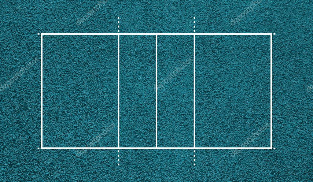 Cancha De Voleibol. Campo De Vista Superior. Fondo De