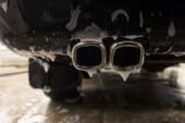 Auto výfukové potrubí s mýdlem