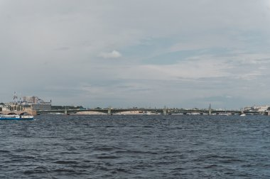 City of St. Petersburg, view from the motor ship 1130.