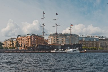 City of St. Petersburg, view from the motor ship 1131.