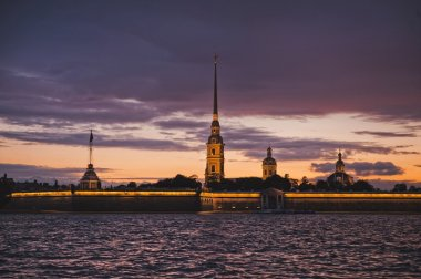 Night photos of the Peter and Paul Fortress 1178.