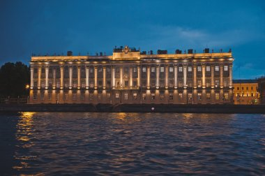 City of St. Petersburg, night views from the motor ship 1179.