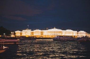 City of St. Petersburg, night views from the motor ship 1188.