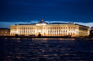 City of St. Petersburg, night views from the motor ship 1193.