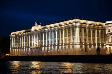 City of St. Petersburg, night views from the motor ship 1200.