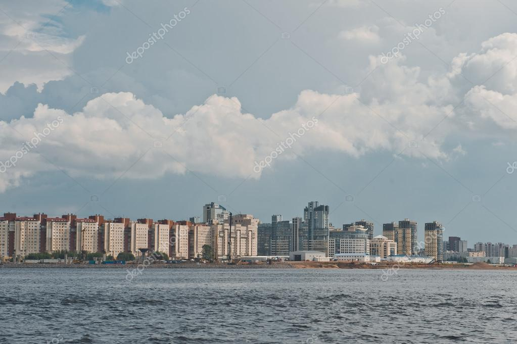 City of St. Petersburg, view from the motor ship 1134.