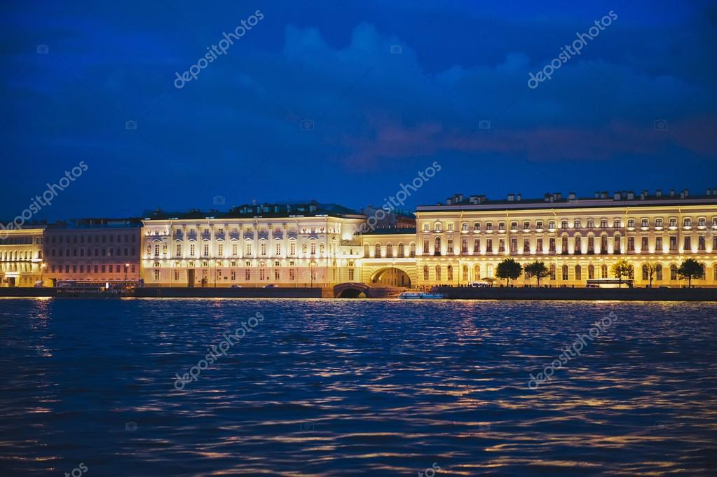 City of St. Petersburg, night views from the motor ship 1184.