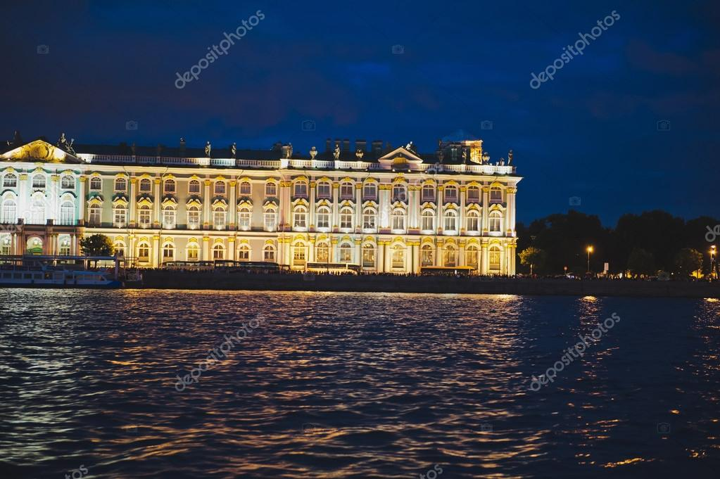 City of St. Petersburg, night views from the motor ship 1186.