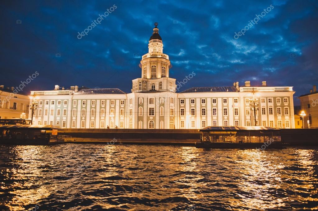 City of St. Petersburg, night views from the motor ship 1187.