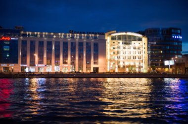 City of St. Petersburg, night views from the motor ship 1207.