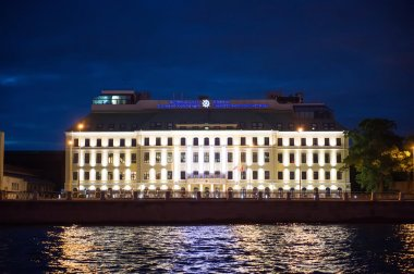 City of St. Petersburg, night views from the motor ship 1213.