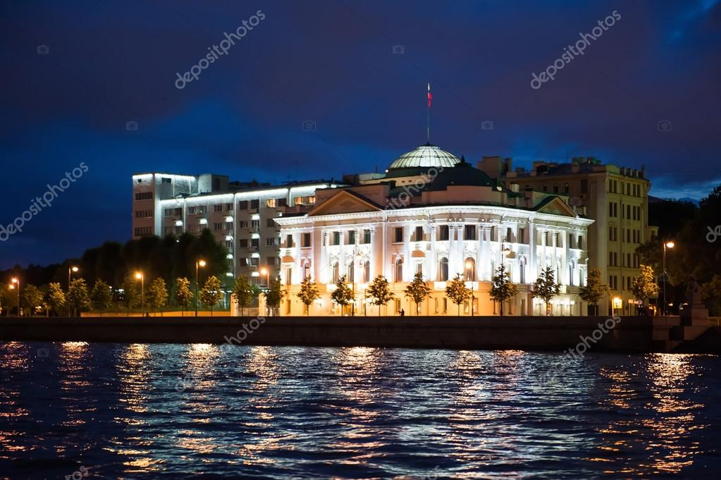City of St. Petersburg, night views from the motor ship 1218.