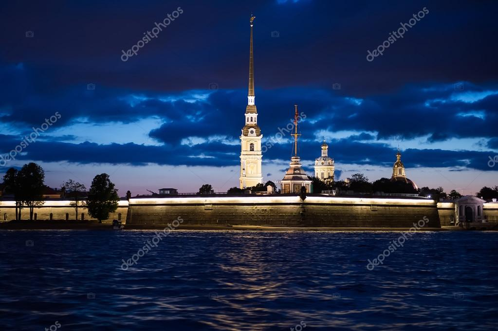 Night photos of the Peter and Paul Fortress 1219.