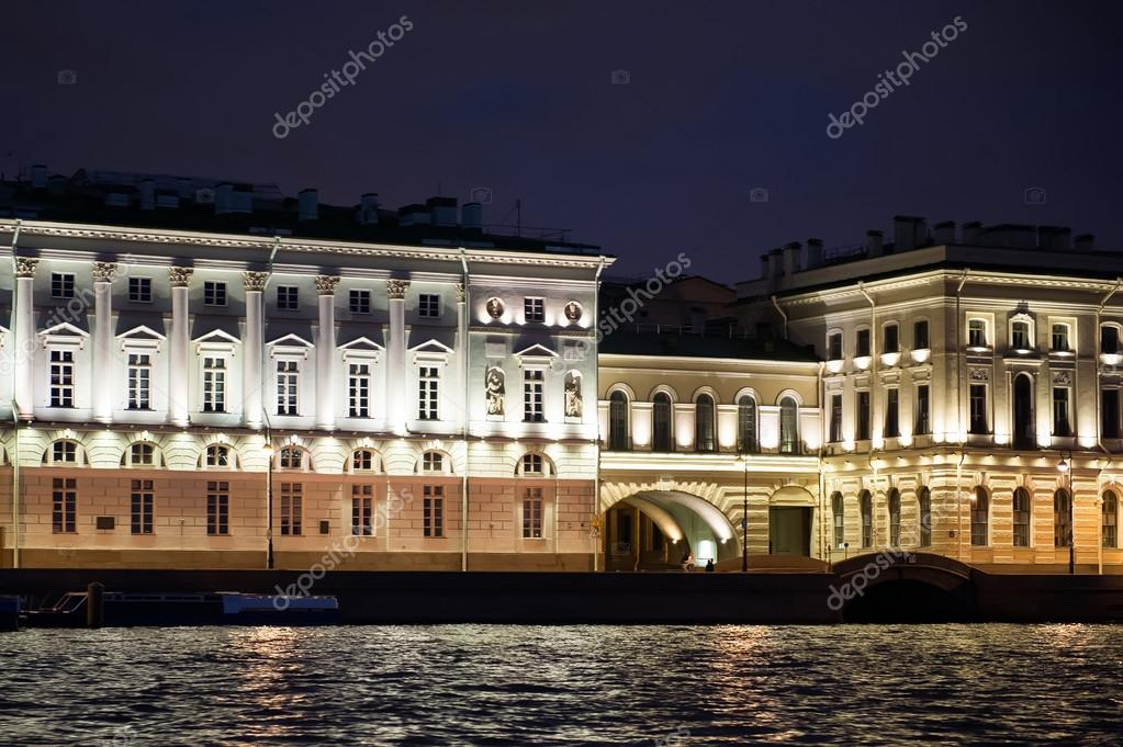 City of St. Petersburg, night views from the motor ship 1220.