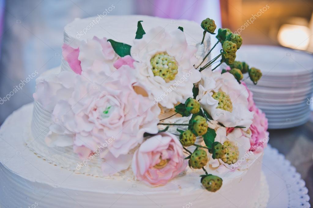 Kuchen Dekoration In Form Von Blumen 4083 Stockfoto