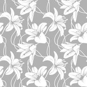 Photo Vector lilly seamless pattern