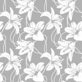 Vektorové lilly bezešvé vzor