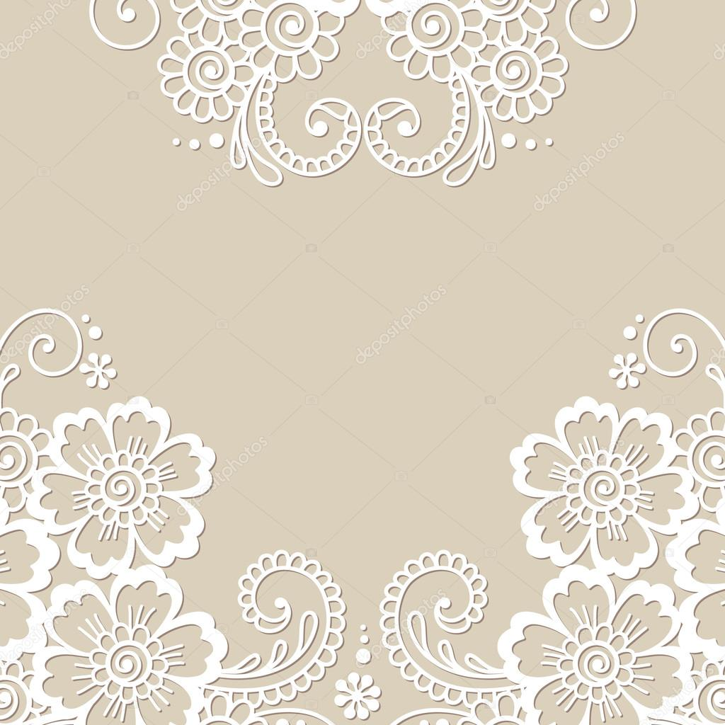 Flower vector ornament frame