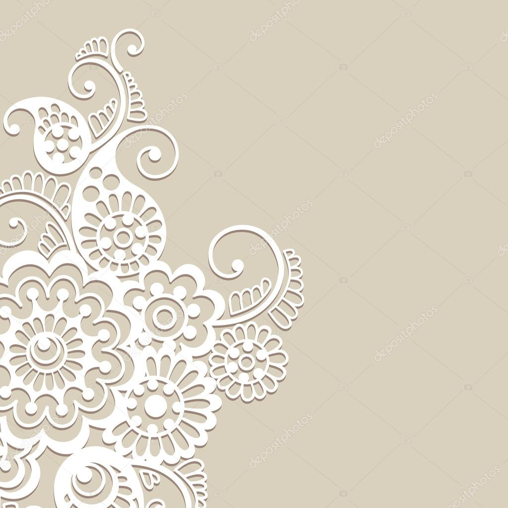 Flower vector ornament background