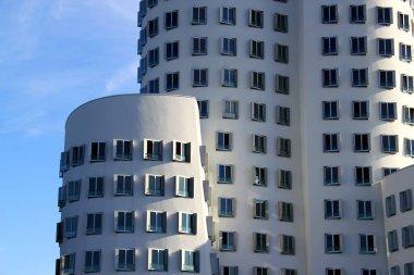 Famous buildings at Media Harbor in Dusseldorf / Detail of buidling