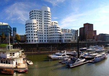 Famous buildings at Media Harbor in Dusseldorf
