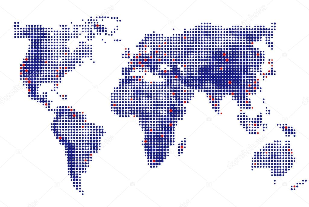 Abstract dotted world map vector blue round dots dot world maps abstract dotted world map vector blue round dots dot world maps business background gumiabroncs Images