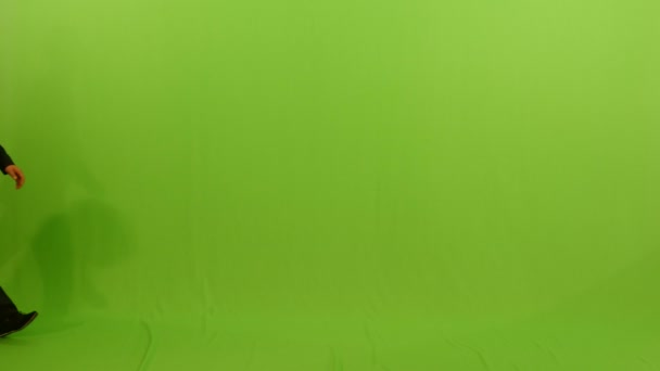 Man is isolated on green background
