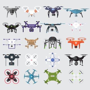 Drones Vector Set