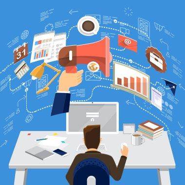 Business Technology flat design