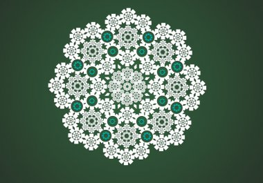 lace circle graphic