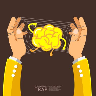 hands trap brain