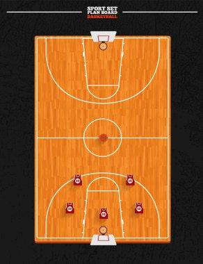 Basketball board field